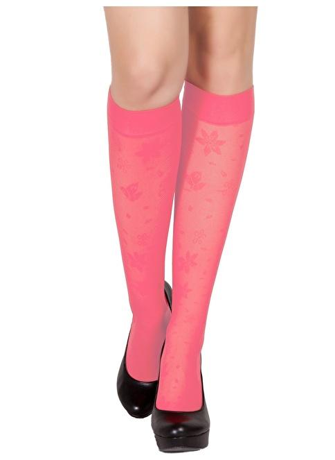 Pierre Cardin 3'Lü Desenli Dizaltı Çorap Pembe